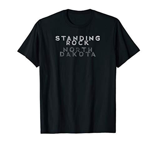 NO DAPL Standing Rock North Dakota Distressed T-Shirt