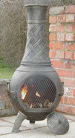 Castmaster Heavy weight Basketweave Cast Iron Chiminea- Bronze finish