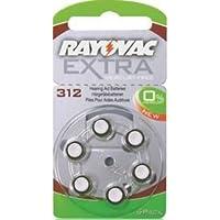 Una mayor libre de Rayovac de tamaño de nieve de ornamentación de inducción de audio ayudar a los pacientes de pilas de botón 312 x 60