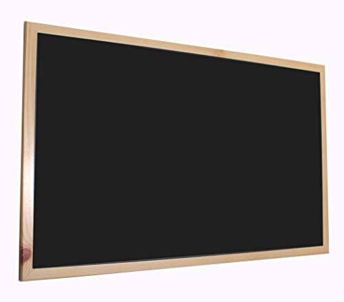 Chely Intermarket Pizarra Negra 90x60 cm, Enmarcado con Madera, no magnética