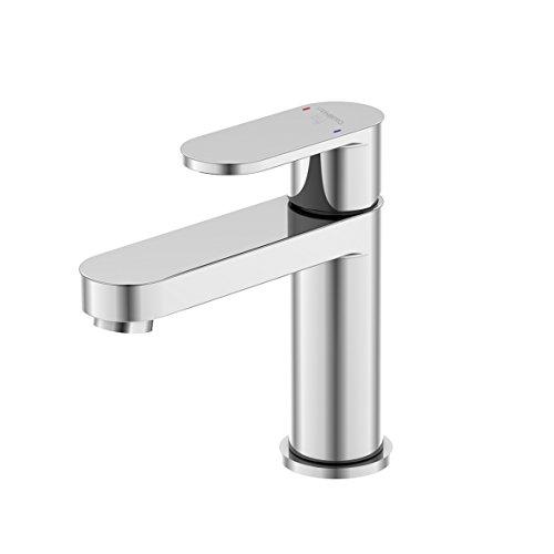 Steinberg 170 1010 1 Hochwertige Waschbecken-Armatur aus massivem Messing für Küche oder Bad Waschtisch-Einhebelmischer ohne Ablaufgarnitur, Chrom
