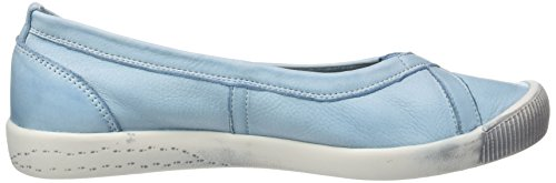 Softinos Ilma Smooth, Ballerine Donna Blau (Pastel Blue)