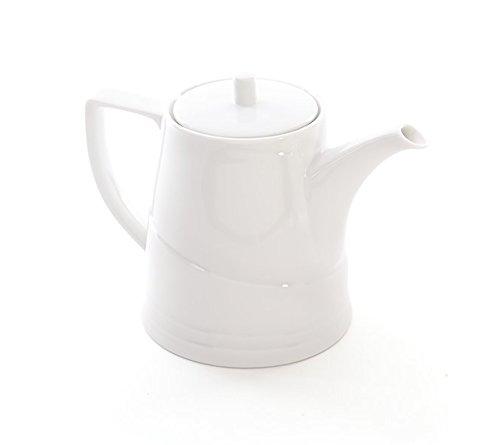 Berghoff Bianco Théière en Porcelaine vitrifiée, Blanc, 1.1 Litre
