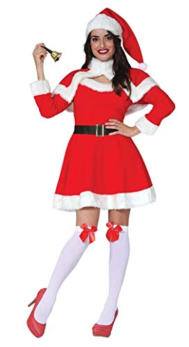 ta Costume Christmas Fancy Dress Adult Womens Outfit (Small UK 8-10) ()
