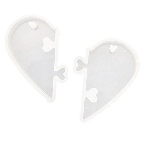 Homyl DIY Silikon Schmuck Mold Anhänger Basteln Gießform Herz Schmuckanhänger Schmuckgießform Halskette - Molds Moulds Silikon