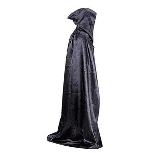 Vidlan Damen Herren Halloween Umhang Karneval Fasching Kostüm Cape mit Kapuze (Robe Kostüme Ghost Kapuzen)