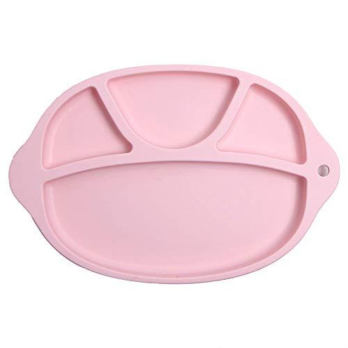 SUDADY-Home Platos silicona bebé Bandeja comida Simple