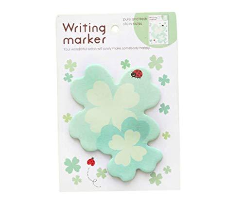 1pc Lucky Clover Shamrock Kleeblatt Papier Floral Niedlich Memo Pad Aufkleber Aufkleber Sticky Notes Scrapbooking Diy Kawaii Notizblock-Tagebuch-Planer