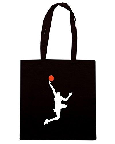 T-Shirtshock - Borsa Shopping OLDENG00399 basketball (9) Nero