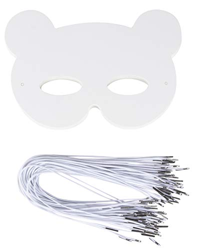 -Packungsrohteils Maskerade Maske für Halloween-Kostüm-Party, Bear Design, 250 g, 8,25 X 7,5 Inches ()