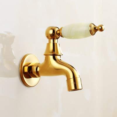 PHA-MACY, Waschmaschinenhahn, Naturgoldkupfer, Wischbecken, schnell geöffneter einzelner kalter Wasserhahn, in die Wand,Blue Jade Mop Pool kurz