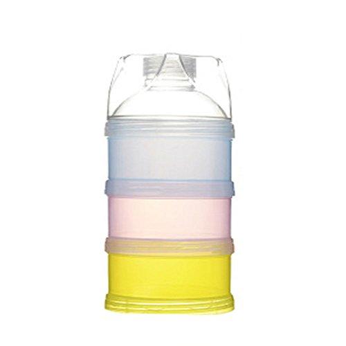 Non-Spill Säuglings Milchpulver Spender, Milchpulver Kasten Tragbare Behälter Flasche, Gestapelt...