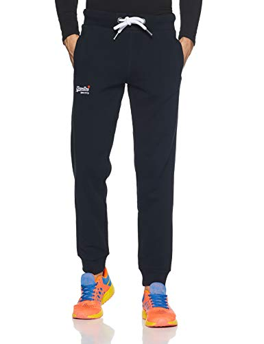 Superdry Herren T-Shirt Sporthose ORANGE LABEL JOGGER Volltonfarbe, Blau (Eclipse Navy 98T), Medium (Herstellergröße: 32)