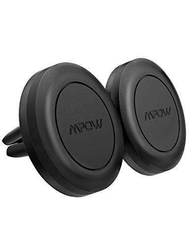 Mpow Soporte Móvil Coche, Soporte Magnético Rejillas, con Iman para iPhone Xs/X/8/7/6, Samsung S9/S8, Huawei y ect