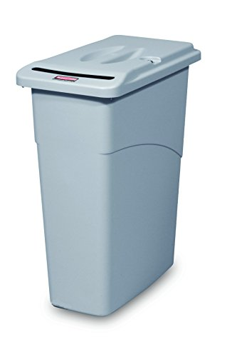 rubbermaid-commercial-products-fg9w1500lgray-slim-jim-abfall-confidential-combo-grau