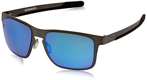Oakley Herren Holbrook Metal 412307 55 Sonnenbrille, Grau (Matte  Gunmetal Prizmsapphirepolarized) f0998a40e5
