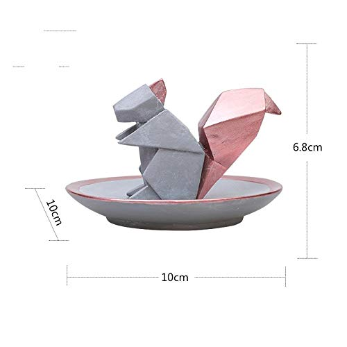 hacpigbb Estatuas Geométrica Origami Abstracto Animales Escultura Decoración del Hogar Decoración Regalos...