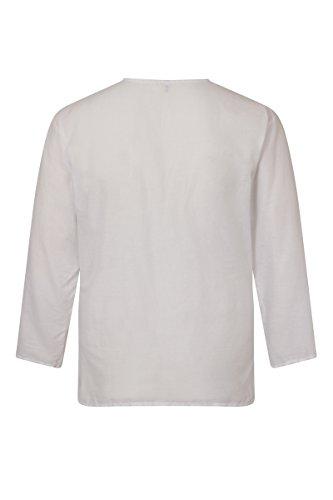 ThaiUK - Chemise casual - Col Tunisien - Homme Blanc