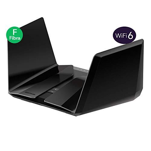 Netgear RAX120 Nighthawk AX12 12-Stream Router WiFi 6 con Velocità Wireless AX6000 fino a 6 Gbps, copertura per Abitazioni Medio-Grandi, 4 Porte Ethernet 1G e 1 Porta Ethernet 2,5/5G, 2 Porte USB 3.0