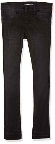 NAME IT Mädchen NKFPOLLY DNMTAFFY 7076 Pant NOOS Jeans, Schwarz Black Denim, 134