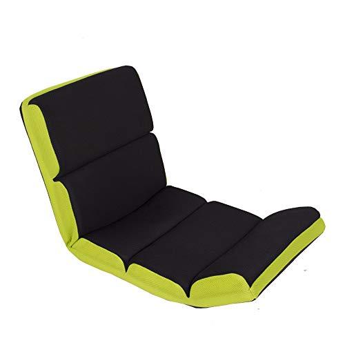 FeliciaWen Sofa-Stuhl verlängern Lounge-Sofa-Bett Faltbare verstellbare Bodenliege Sleeper Futon Matratze Seat Chair (Farbe : Schwarz, Größe : 122 * 52 * 12cm)