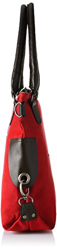 Bags4Less - Stern-mini, Borsa a tracolla Donna Rot (Canvas-Tiefrot)