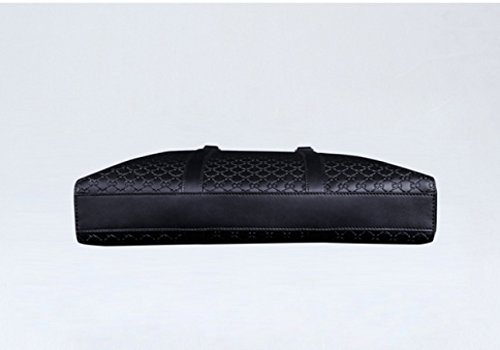 LAIDAYE Art- Und Weisegeschäfts-schwarze Männer Beutel-Männer Handtaschen-Männer Handtasche Großer Kapazitäts-Doppelreißverschluss-Aktenkoffer Black