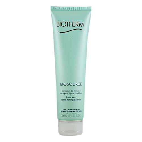 Biotherm Biosource Hydra-Mineral Cleanser Toning Mousse - Desmaquillante, 150 ml (piel normal y mixta)