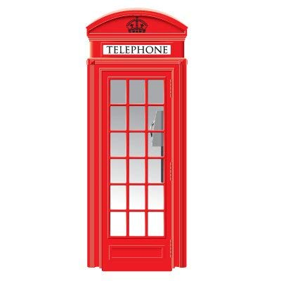 Vinilo para Puerta Decorativo Cabina de teléfonos Londres Varias Medidas | Adhesivo Resistente y de Fácil Aplicación Pegatina Adhesiva Decorativa de Diseño Elegante