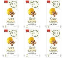 (6 PACK) - Heath And Heather - Organic Lemon & Ginger Tea | 20 Bag | 6 PACK BUNDLE