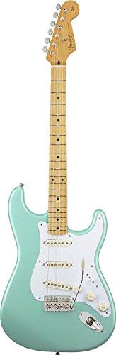 Fender E-Gitarre, Classic Series, 50er, Stratocaster, Griffbrett aus Ahorn, 0131002304,Daphne Blue-P Normale Größe Surf Green