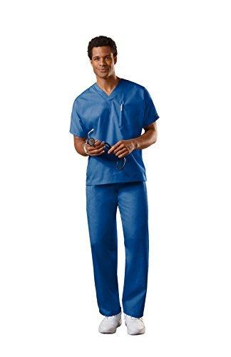Poly Scrub (Cherokee Uniforms Unisex Scrub Set (XXS-5X, 30 Farben) - Blau - X-Klein)