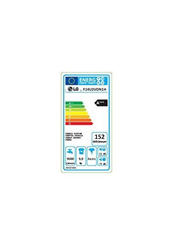 LG Electronics F 14U2 VDN1H Waschmaschine FL / A+++ / 152 kWh/Jahr / 1400 UpM / 9 Kg / 9500 liter/jahr / 14 vorprogrammierte Programme / Smart Diagnosis / weiß