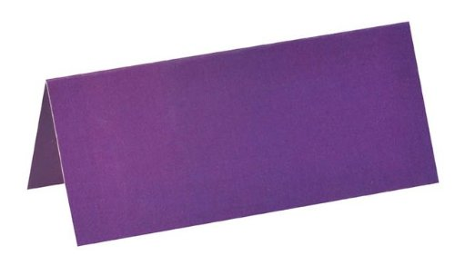 NEU Tischkarten, 3x7 cm, pflaume, 10 - Kostüm Ceremonie