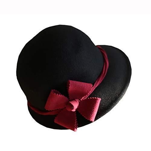 (Nosterappou Wild Fashion Damen Hut, Topfhut, Hut, Herbst und Winter vierblättriger Blumenhut, Blumen verschönern mehr Stereo-Komfort (Farbe : B))