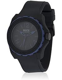 Watx RWA1801 - Reloj con correa de caucho para hombre, color negro / gris