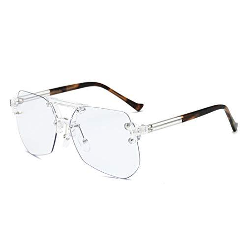 Jiuyizhe Frameless Männer- und Frauenbrillen-Computergläser der Anti-blauen Hellen Brille (Color : Brown)
