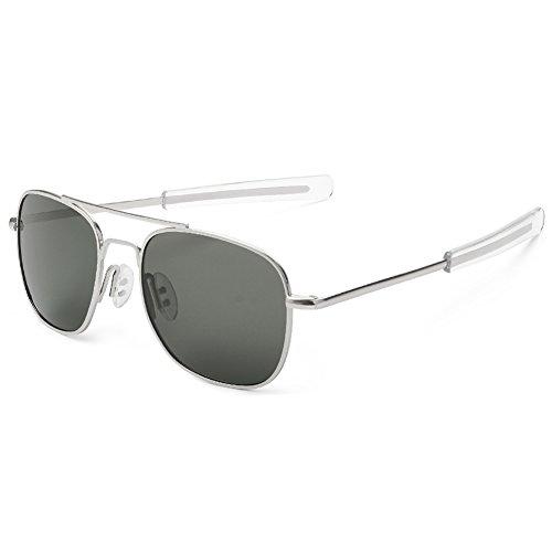 WELUK Polarisierte Aviator Sonnenbrille für Herren UV-Schutz Militärstil Retrostil Pilotenbrille.