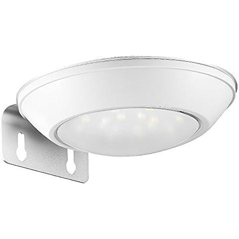 AVANTEK Luz Nocturna Solares con Sensor de Movimiento, 300 Lúmenes, Impermeable IP65, Redondo