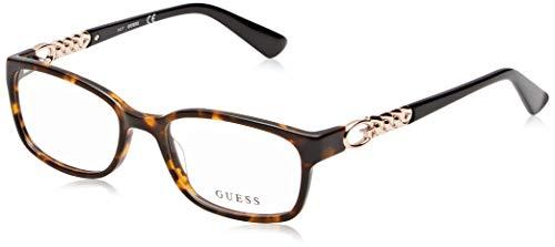 Guess Unisex-Erwachsene GU2558 052 51 Brillengestelle, Braun (Avana Scura), - Guess Brille Frames