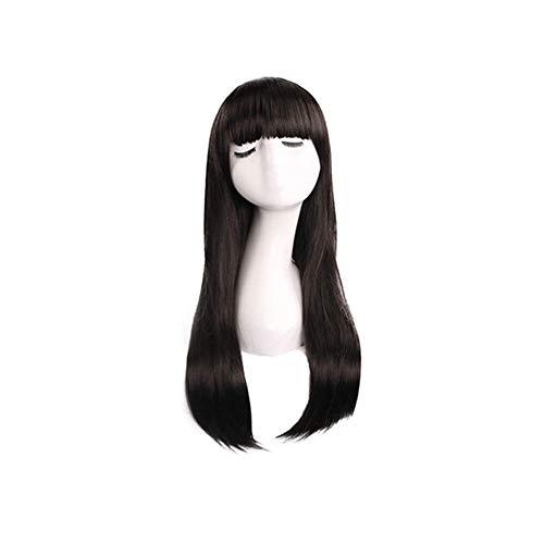Frauen lösen synthetische Perücken Blunt Bangs Fluffy langen lockigen Haar Perücke Haar Perücke für Frau