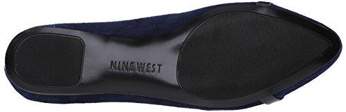 Nine West Saxiphone Daim Chaussure Plate Navy-Nav