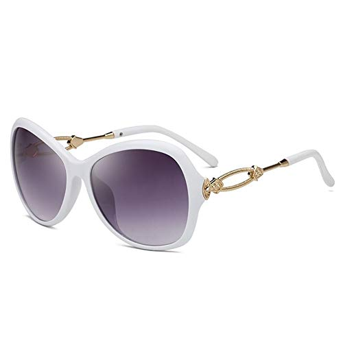KYS Klassische Retro Quadrat Sonnenbrille Persönlichkeit Mode Sonnenbrille Kunststoffrahmen UV400 Große Rahmen Unisex (Color : White)