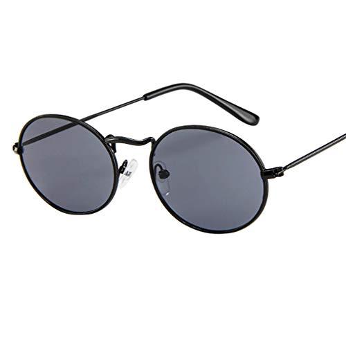iert für Damen/Dorical Retro Oval Metallrahmen Bonbonfarben Unisex Klein Brille mit UV-400 Schutz Vintage Outdoor Brille Super Coole Frauen Sunglasses Travel Eyewear(A) ()