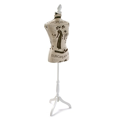 Versa 20710003 Maniquí costura 168x37,5x24, Madera y poliéster, Busto decorativo