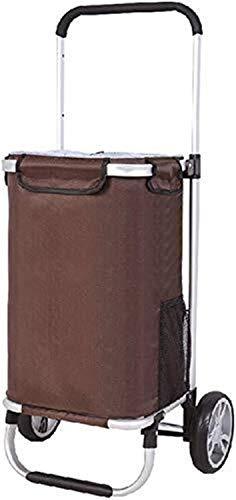 HYY-YY Einkaufswagen Portable Einkaufswagen Klettern Treppen Wagen PKW-Anhänger Kleinen Wagen Isolierung Trolley-Rahmen-Design Falten Dicht Kordelzug