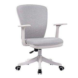 RUNXIAN Estudio for sillas de tela silla de la computadora de Ministerio del Estudiante mesa de estudio y silla simple Ocio compacto Silla de asiento giratorio asiento ergonómico ( Color : Dark gray )