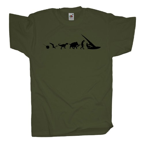 Ma2ca - 500 Mio Years - Windsurfing T-Shirt Olive
