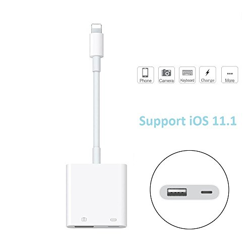 Premium Lightning vers USB femelle adaptateur pour appareil photo/Lightning 8 broches vers USB femelle Câble connecteur