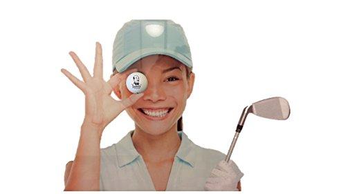 Golf-Ball Vitrine als Bilderrahmen mit Kunstrasen 12 Golfbälle zum stellen und hängen schwarz - Golf-ball Vitrine
